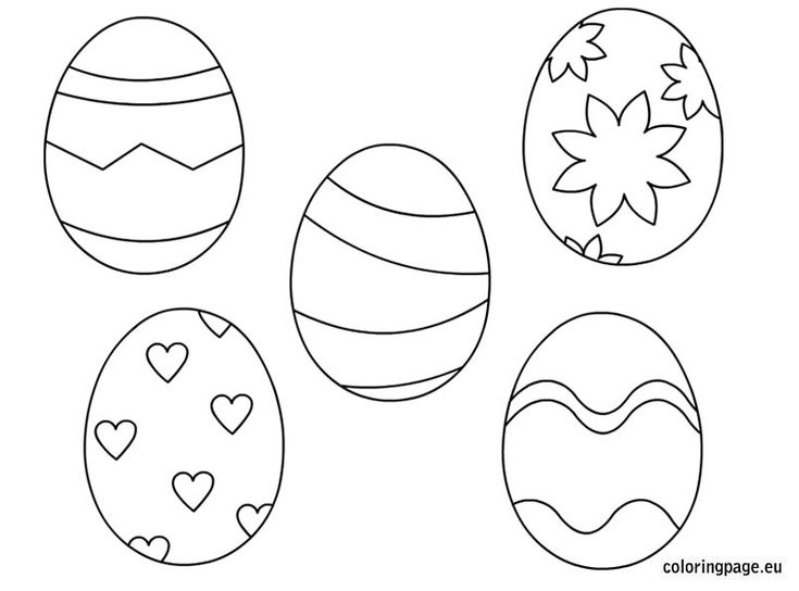 56 best Easter images on Pinterest  Egg coloring Coloring pages