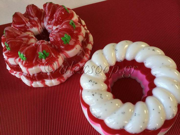 Σαπούνι τούρτα με φράουλες