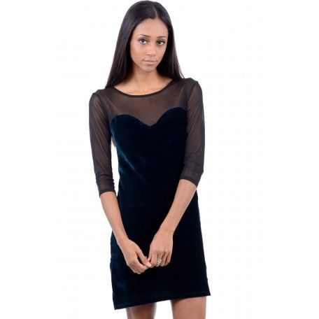 Velvet Teal Dress