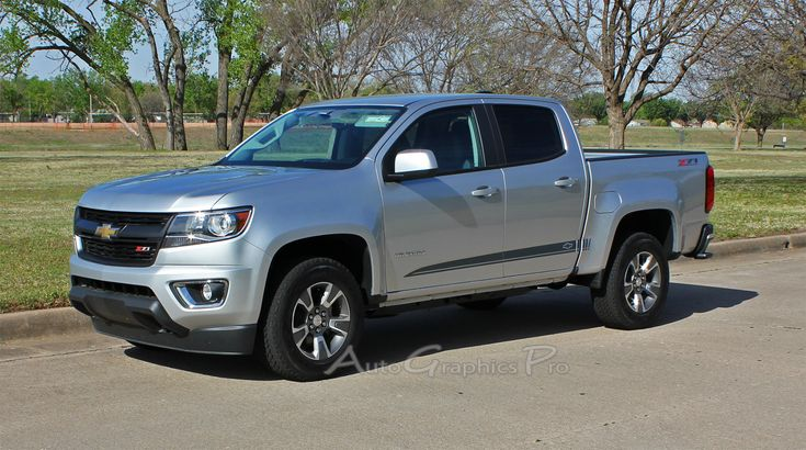 "2015 2016 2017 Chevy Colorado GMC Canyon ""RATON"" Lower Rocker Panel Accent Factory Bodyside Style Vinyl Graphics Stripes Kit"