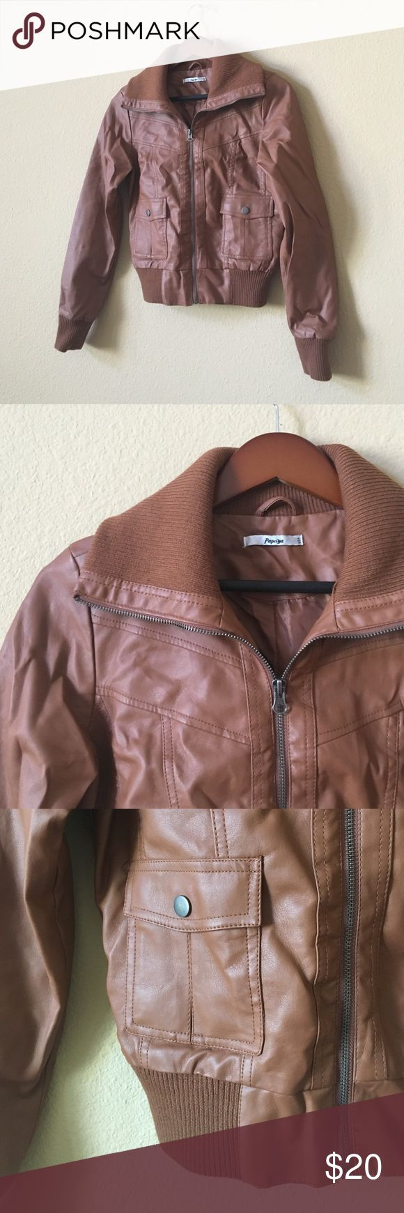 Papaya Brown Bomber Jacket All items come from a smoke free home! Feel free to message me with any questions :) Papaya Jackets & Coats