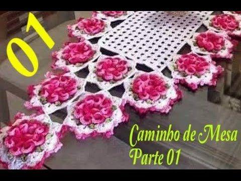 CAMINHO/ CENTRO DE MESA INFINITO EM CROCHÊ - PARTE 01 -C0M CRISTINA COELHO ALVES - YouTube