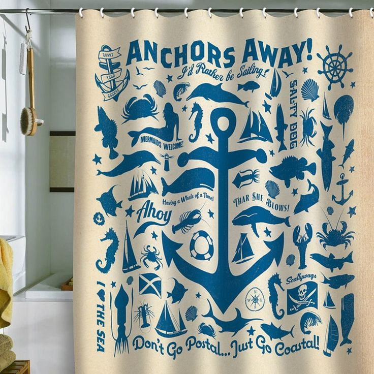 Funky Nautical Shower Curtain