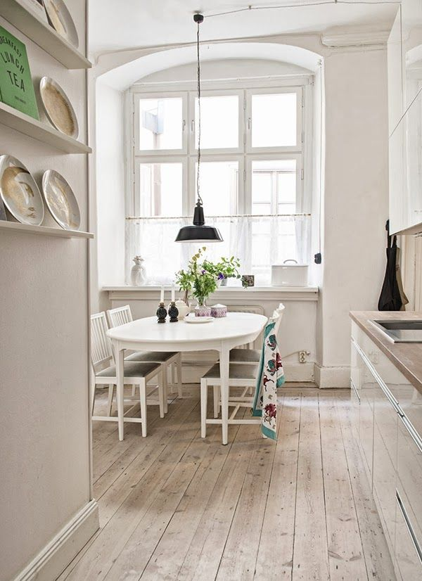 Scandinavian Vintage StyleDecor, Boho Chic, Dining Area, Dining Room, Interiors Design, Beautiful Hemmings, Pendants Lights, White Interiors, White Kitchens