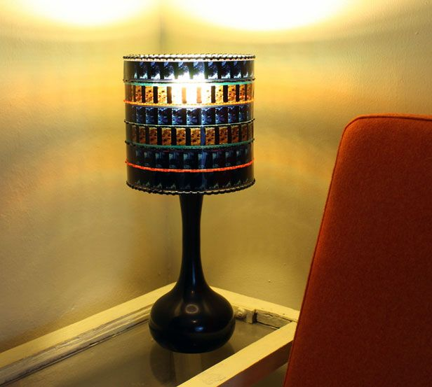 photo of bottle wall: Diy Ideas, Blockbuster Lamp, Diy Lamps, Lighting Ideas, Project Ideas, Film Lampshade