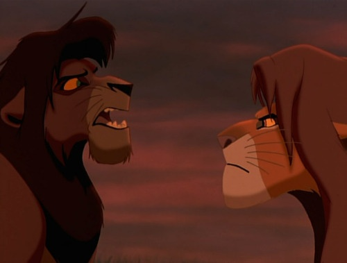 Kovu and Simba