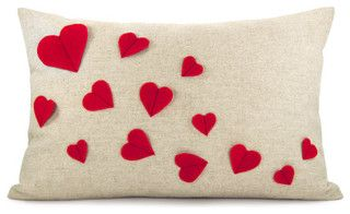 Growing Hearts Pillowcase by Classic by Nature - modern - pillows - by Etsy