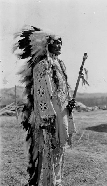 Native American Indian Stephen Standing Bear (Oglala), 1930 by Marquette University Archives, via Flickr