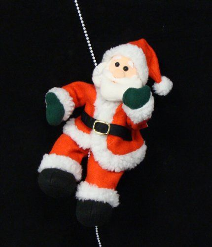"11"" Animated Musical Rope Climbing Plush Santa Claus Christmas Figure Decoration"
