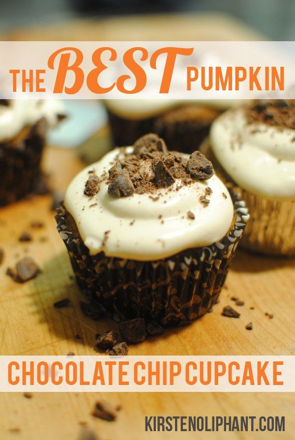 The Best Pumpkin Chocolate Chip Cupcake Recipe