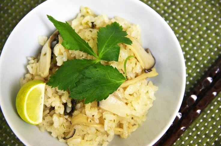 エリンギでなんちゃって「松茸ごはん」を作ってみたら、見た目も風味も本物に近くなった!この作り方なら十分に松茸風味が楽しめてオススメだよ♪