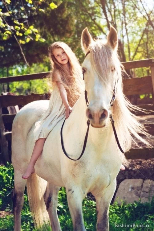 a young girl and her horse