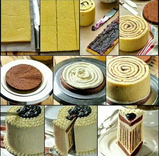 DIY: Come farcire una torta a strisce | DIY striped cream cake