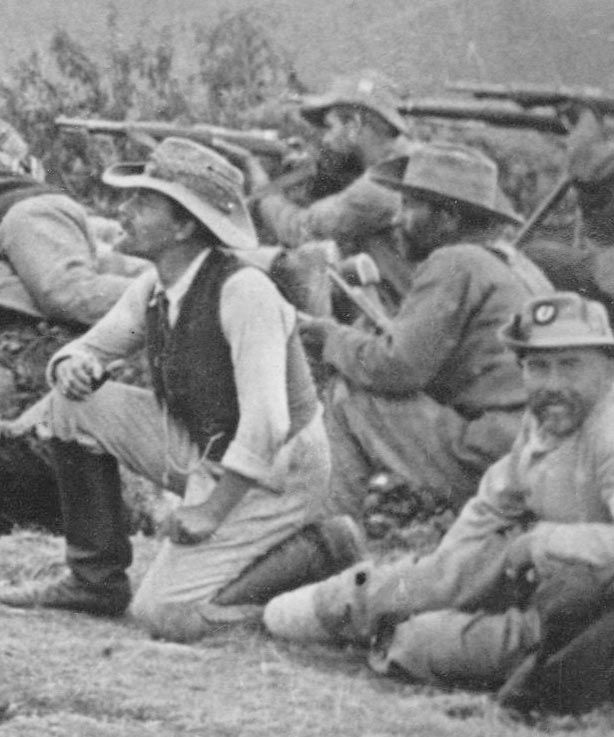 Boer soldiers at Ladysmith, South Africa, circa 1899