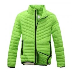 Sporty Green Down Jacket