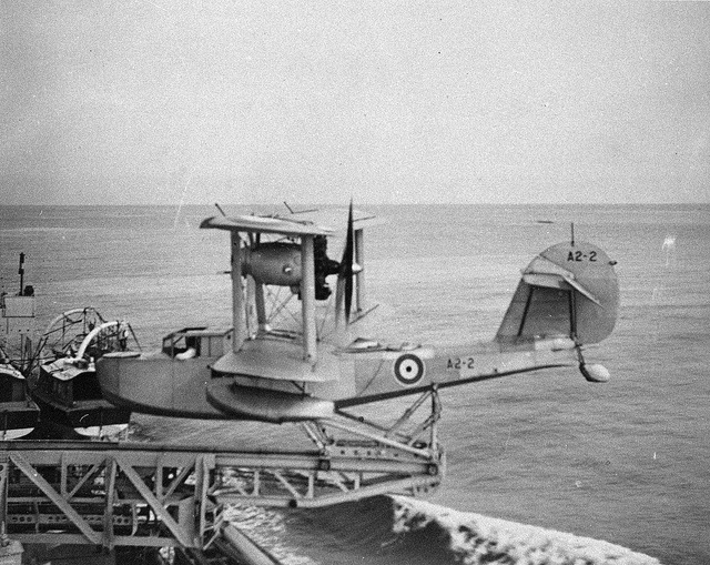 Supermarine Seagull V-2. Known as Walrus in Royal Navy & RAF service. Typical capital ship catapult launch. In Royal Australian Navy & Royal New Zealand Navy who received the design before British services, the Walrus was initially known as Seagull.