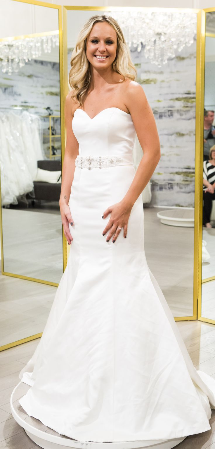 21 best say yes to the dress canada season 1 images on pinterest ainsley said yes to this 1100 satin fit and flare gown with a sweetheart neckline by ombrellifo Images