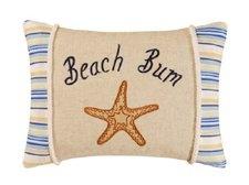 12 x 16 Beach Bum Pillow, Taupe Shells $27.49