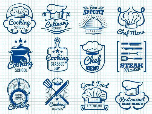 Colecao De Rotulos Retro De Chef Design De Cartao Retro Banners