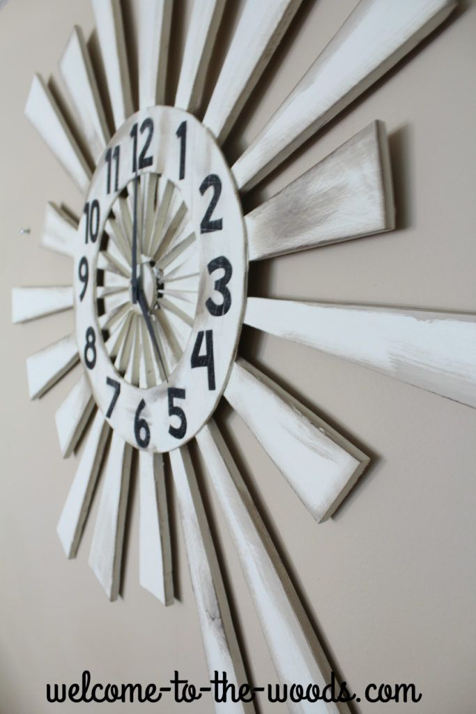 REALLY COOL DIY TUTORIAL for this amazing wood wall clock!