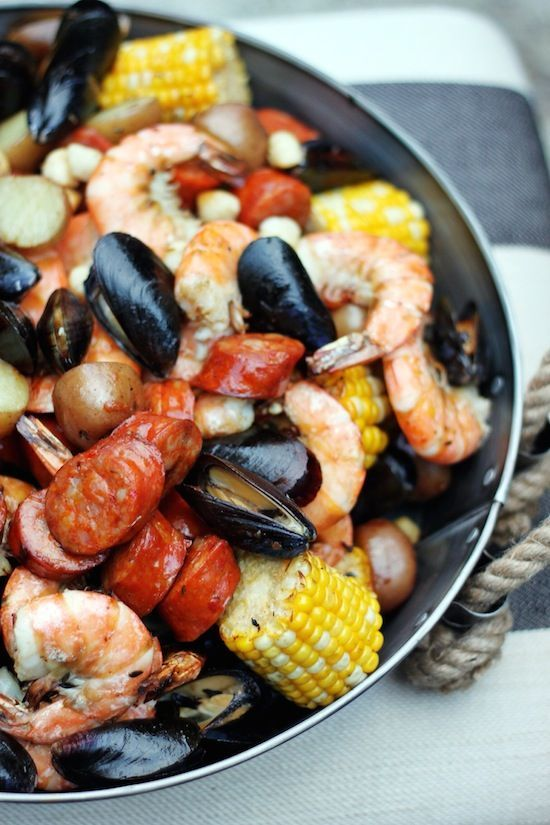 LOW COUNTRY BOIL ... ON THE BBQ~ Perfect for summer entertaining or FATHERSDAY! SO simple ANYONE can do it - love the decor too!!