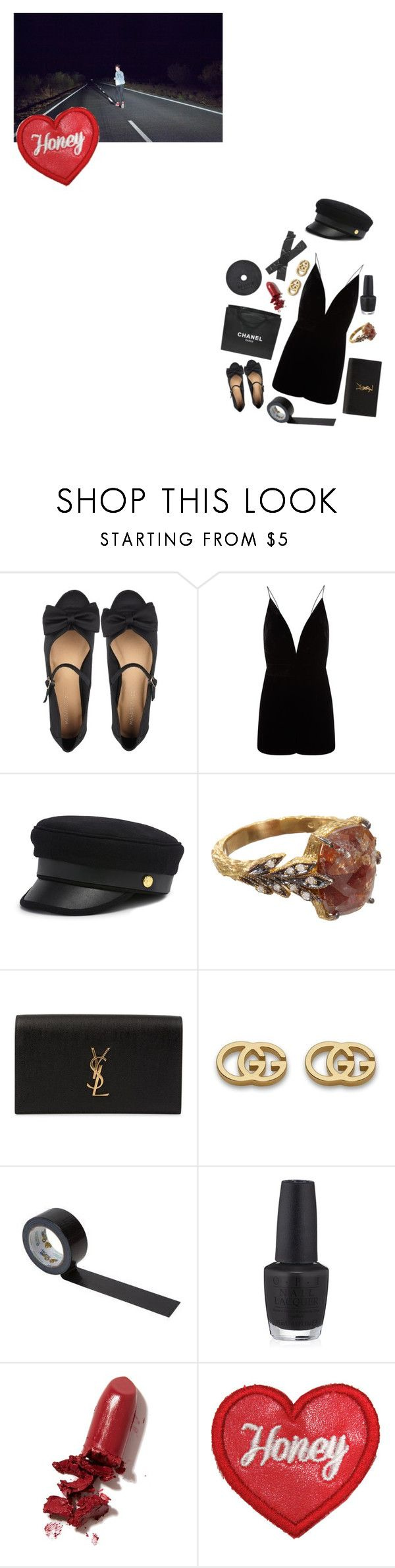 """These four walls"" by isobelle206 ❤ liked on Polyvore featuring Marais USA, La Mania, Henri Bendel, Chanel, Cathy Waterman, Yves Saint Laurent, Gucci, OPI and LAQA & Co."