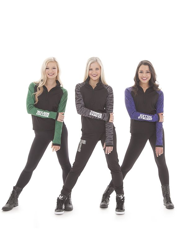 The perfect crew quarter zip pullover jacket for your cheer team, dance team, or fans. Customize with your team name or logo! Lark Tommie Quarter Zip