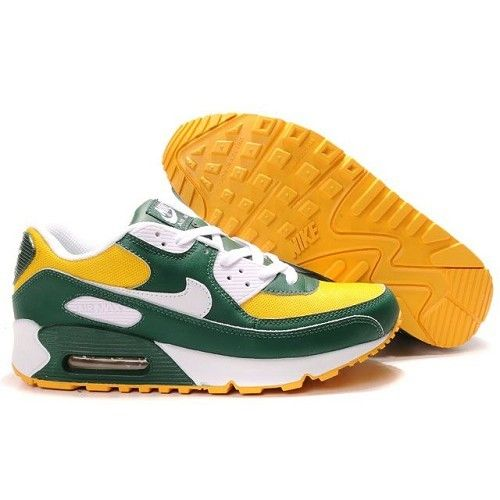Durable Air Max 90 Men - Deep Forest Green / Mineral Yellow - White Running  Shoes