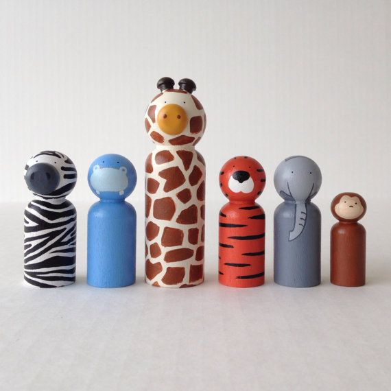 Hey, I found this really awesome Etsy listing at https://www.etsy.com/listing/197936408/zoo-animal-peg-dolls-6pc-set-unique
