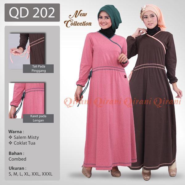 Baju Qirani Model 202 Coklat tua