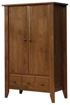Sauder Shoal Creek Armoire in Oiled Oak transitional-dressers-chests-and-bedroom-armoires