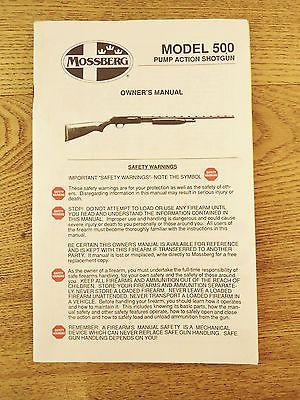 vintage 1988 mossberg model 500 pump action shotgun owner s manual rh pinterest com Barska Mossberg 500A Forearm Mossberg 500 Accessories