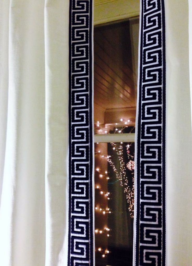 Greek Key Curtain Trim Pretty Little Details Pinterest