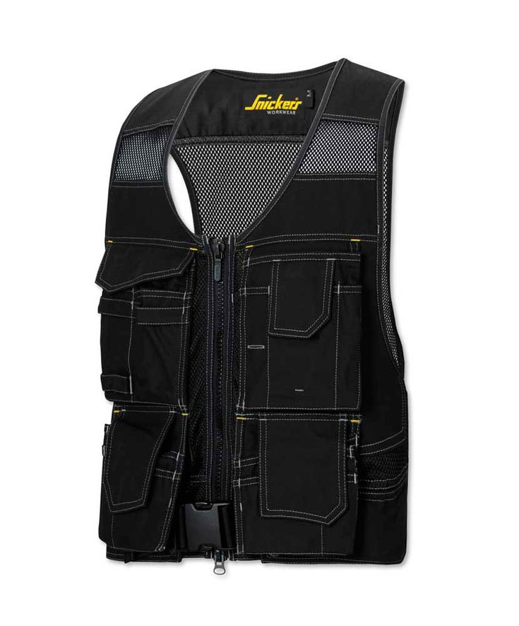 SnickersR 4192 DuraTwillTM Flexi Tool Vest For Construction And Maintenance Roles Velcro Fasteners