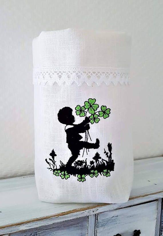 Light Bag Utensilo Gift Bag Tea Light Bags Boy Lucky Gestickt