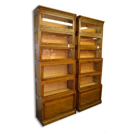 Vintage bookcase - www.aantik.cz   Americká knihovna