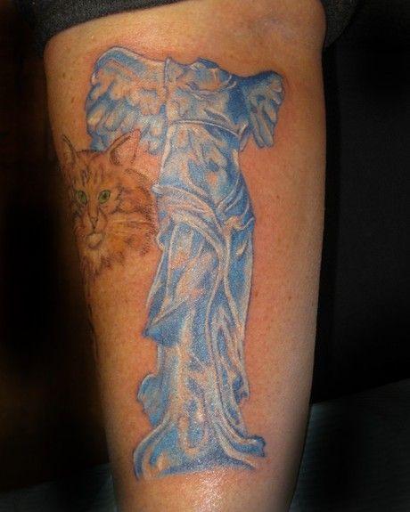 greek goddess nike tattoos mythology woma