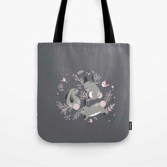 Bunny Meadow Tote Bag