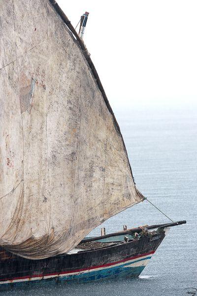 Boutre de Nosy Be sous la pluie, Madagascar © Philip Plisson. Départ de la Malagasy Cup © Philip Plisson. Tirage limité en Digigraphie®, uniquement vendu en Galerie Plisson de la Trinité sur mer et Saint-Malo .