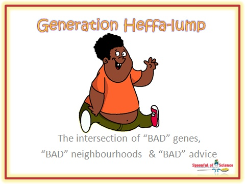 """Children today are caught at the intersection of """"BAD"""" genes, """"BAD"""" neighbourhoods & """"BAD"""" advice visit   http://www.heffalumpgeneration.co.za for a solution"""