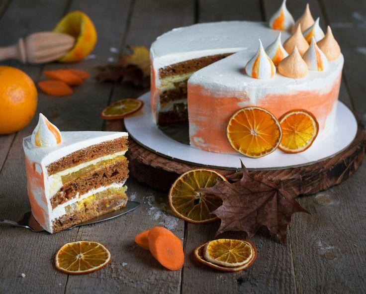Carrot-orange cake.