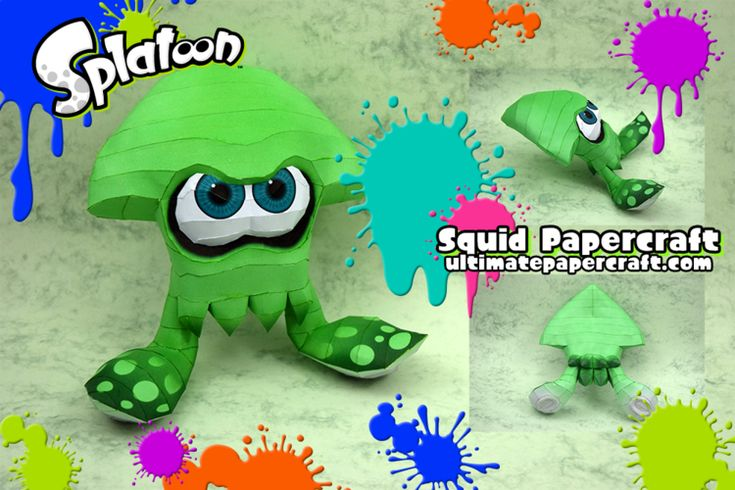 Splatoon Squid Papercraft