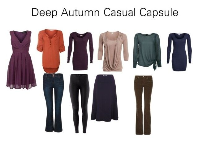 Deep Autumn Casual Capsule by katestevens on Polyvore featuring polyvore fashion style Pussycat Eastex rag & bone H&M clothing