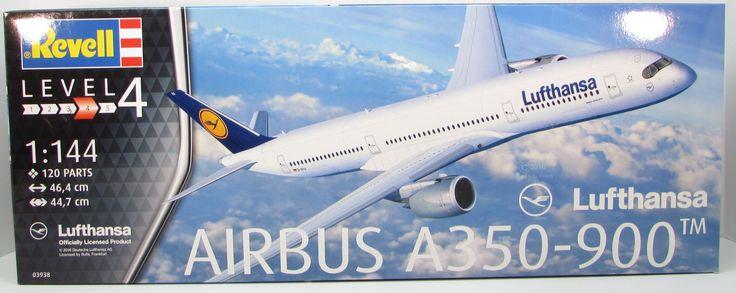 Revell 1/144 Airbus A350-900 Lufthansa Plastic Model Kit 03938