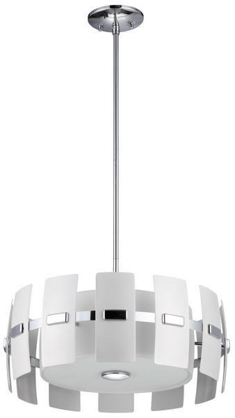 """DVP5222CH-WPM  Luna 21"""" Pendant Chrome / White"""