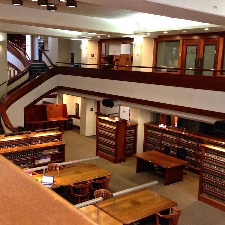 NYU School of Law was located on the top floors of a factory until 1951.  Today, this is NYU School of Law's amazing library.  A new wing was added to the library in 1987 by tunneling under an adjacent street.