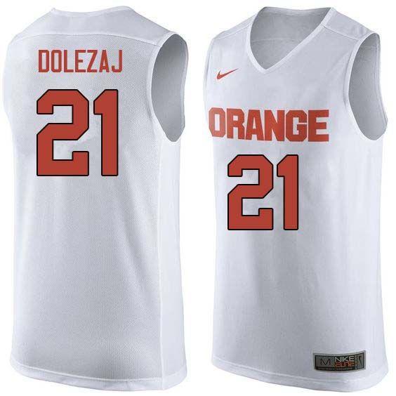 detailed look 8f9ba d55ff Men #21 Marek Dolezaj Syracuse White College Basketball ...