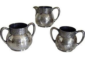 Victorian Pairpoint Serveware  circa 1900-1910