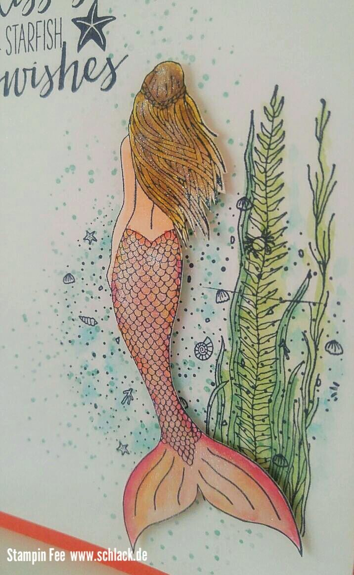stampin magical mermaid Meerjungfrau Geburtstag glitter shimmer wink of stella