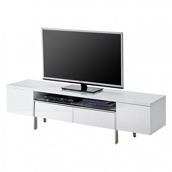 TV-Lowboard Lazarus - Hochglanz Weiß | Home24